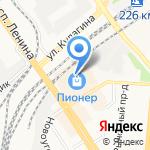 Лента на карте Барнаула