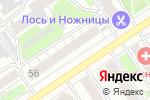 Схема проезда до компании Milavitsa в Барнауле