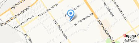 Центр восстановительной медицины и реабилитации на карте Барнаула