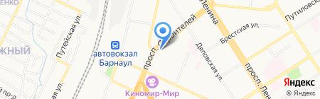 Алтайская краевая детская библиотека им. Н.К. Крупской на карте Барнаула