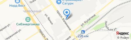 Юпитер на карте Барнаула