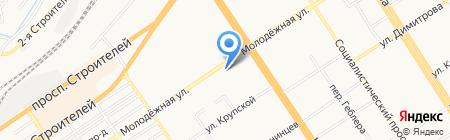 Лиffчик на карте Барнаула