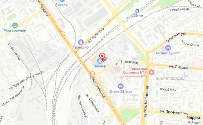 Карта расположения пункта доставки Билайн в городе Барнаул