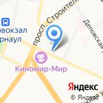 Квелли на карте Барнаула