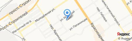 Рэн-тур на карте Барнаула