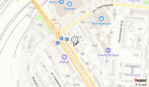 Ювелирный салон. Схема проезда в Барнауле