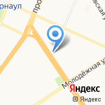 ПолзуновЪ на карте Барнаула