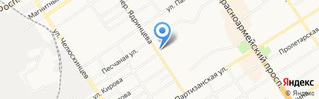 Аннушка на карте Барнаула