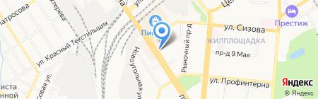 Магазин радиотоваров на карте Барнаула