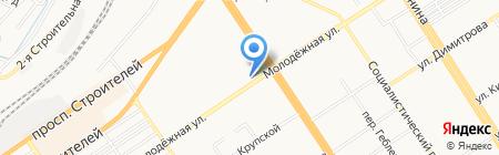 Мастерская по ремонту обуви на Молодёжной на карте Барнаула