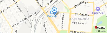Киоск по ремонту одежды на карте Барнаула