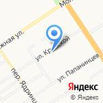 Спарта на карте Барнаула