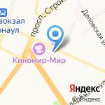 Магнит на карте Барнаула