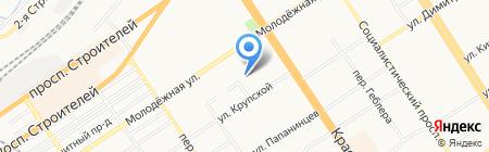 Автомастерская по ремонту автостекол на карте Барнаула