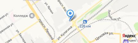 АЗТА на карте Барнаула