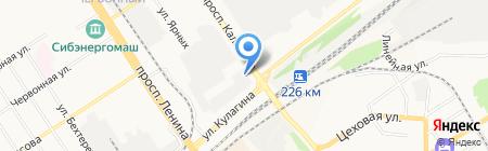АЗТЛ на карте Барнаула