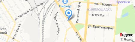 Розочка на карте Барнаула