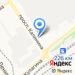 УАЗ-АГАС на карте Барнаула