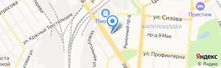 Milavitsa на карте Барнаула