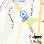 Лунный свет на карте Барнаула