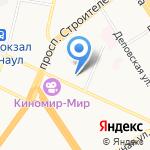 Санвест на карте Барнаула