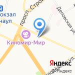 Банк ФК Открытие на карте Барнаула