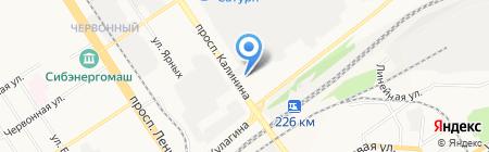 Ровно+ на карте Барнаула