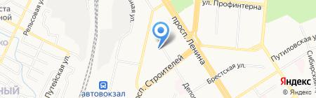 Улыбка на карте Барнаула