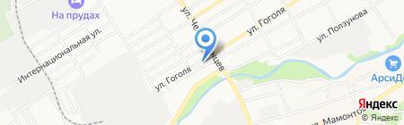 Почтовое отделение №8 на карте Барнаула