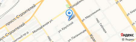 Элис на карте Барнаула