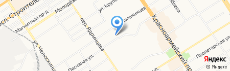 Папанинцев 125 на карте Барнаула