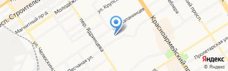 Хмельной кабан на карте Барнаула