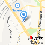 Светолок на карте Барнаула