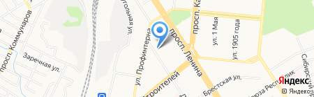 Федерация Ушу Алтайского края на карте Барнаула