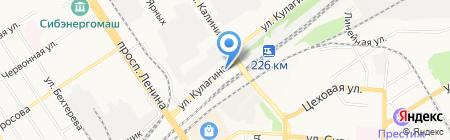 Автомасла на Кулагина на карте Барнаула