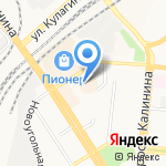 Волна на карте Барнаула