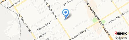 Царский двор на карте Барнаула