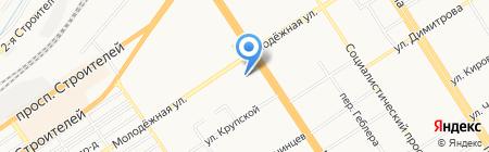 Городская поликлиника №3 на карте Барнаула