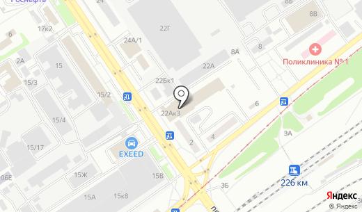 Закусочная. Схема проезда в Барнауле