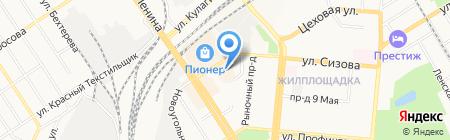 Эталина на карте Барнаула