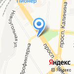 Витязь на карте Барнаула