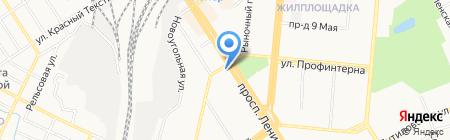 Добромир на карте Барнаула