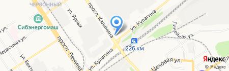 Автозапчасти на карте Барнаула