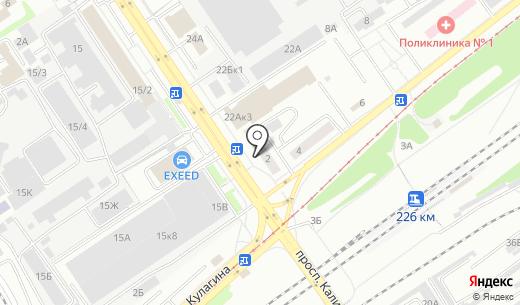 Торговый дизайн. Схема проезда в Барнауле