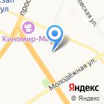 Гимназия №69 на карте Барнаула