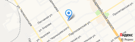 Партизанская 142 на карте Барнаула