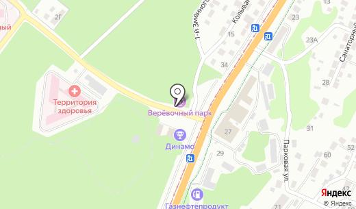 На высоте. Схема проезда в Барнауле