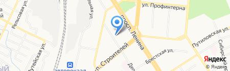 Детский сад №101 на карте Барнаула