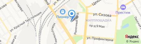 Визави на карте Барнаула