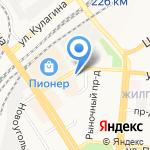 Киоск по продаже фруктов и овощей на карте Барнаула